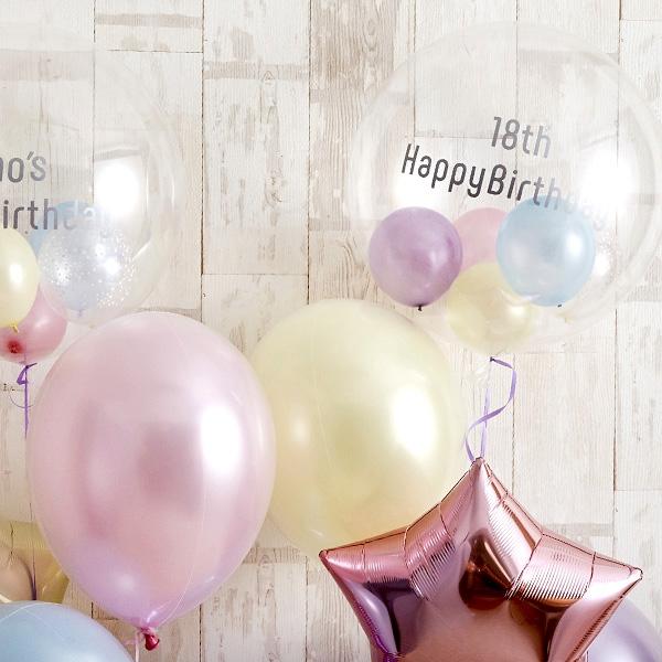 パステルカラーでふわふわHappy&Twinkle バルーン[6]