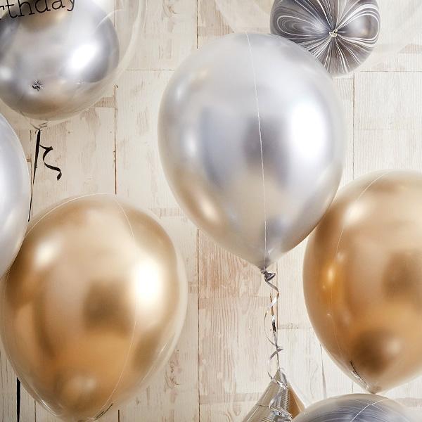 ゴールド・シルバーメタリックでシックなお祝い[5]