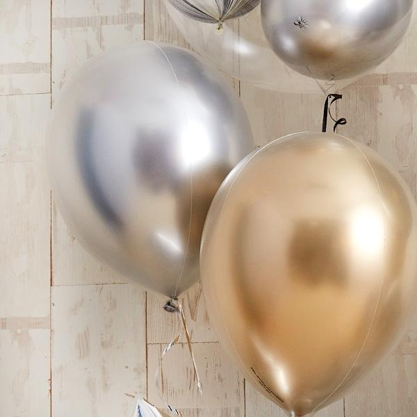 ゴールド・シルバーメタリックでシックなお祝い[7]