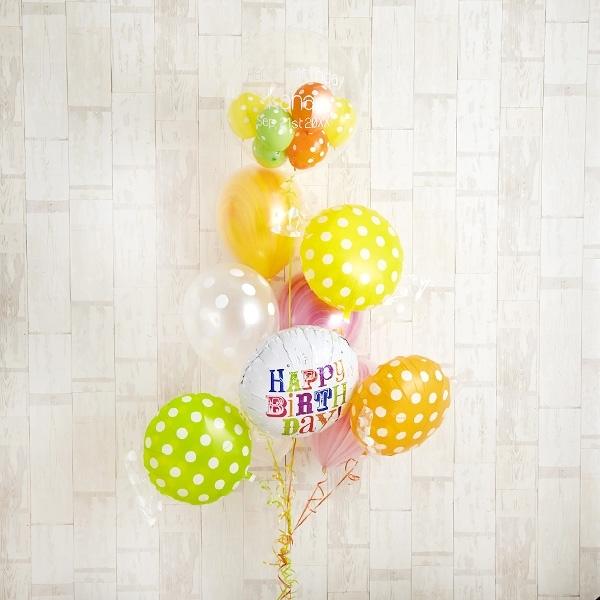 キャンディーカラードット&マーブルでHAPPY BIRTH DAY![10]