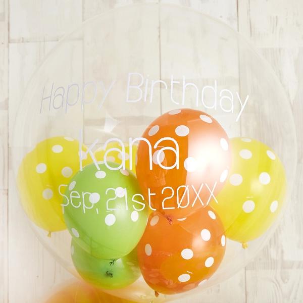 キャンディーカラードット&マーブルでHAPPY BIRTH DAY![2]