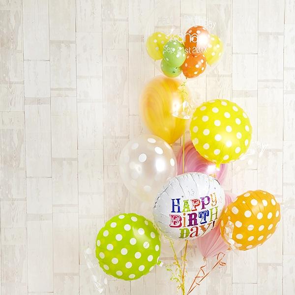 キャンディーカラードット&マーブルでHAPPY BIRTH DAY![9]
