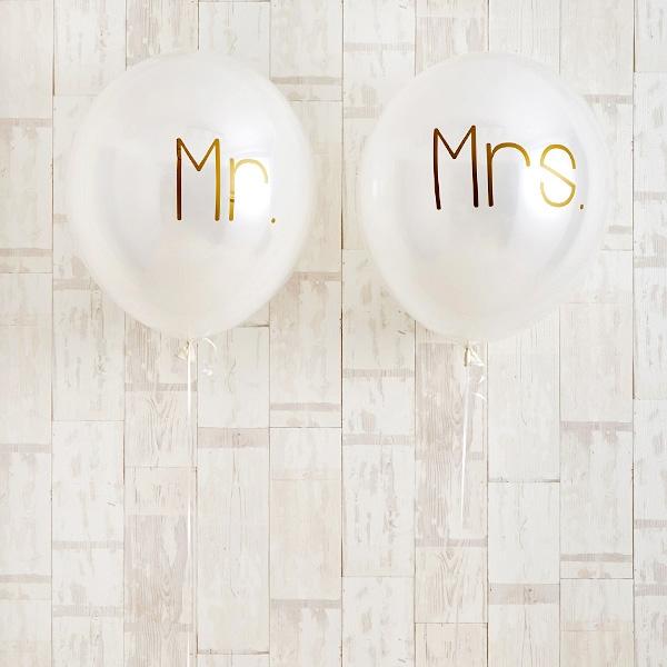 シンプルゴールドMr.&Mrs.Wedding[2]