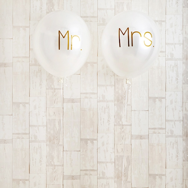 シンプルゴールドMr.&Mrs.Wedding[5]