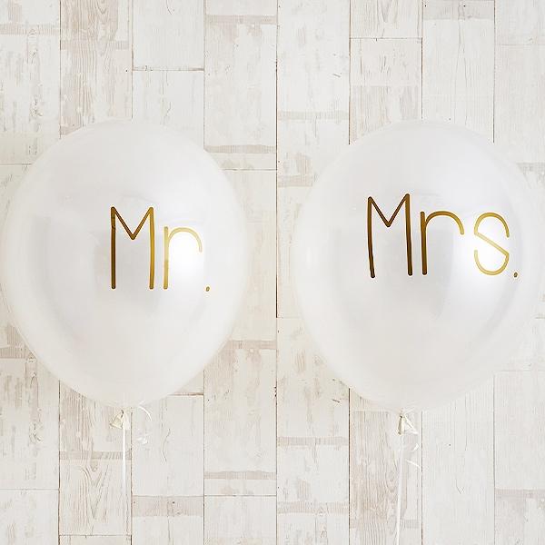 シンプルゴールドMr.&Mrs.Wedding