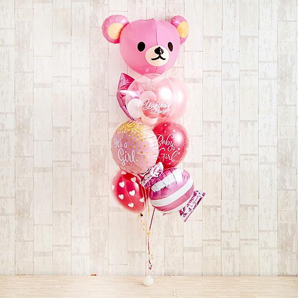 Cutie PinkeyBearでベビーシャワー(ピンク)[2]