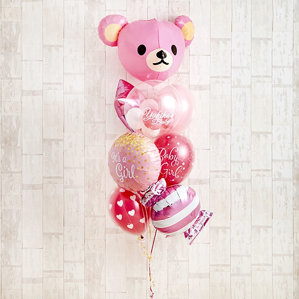 Cutie PinkeyBearでベビーシャワー(ピンク)[10]