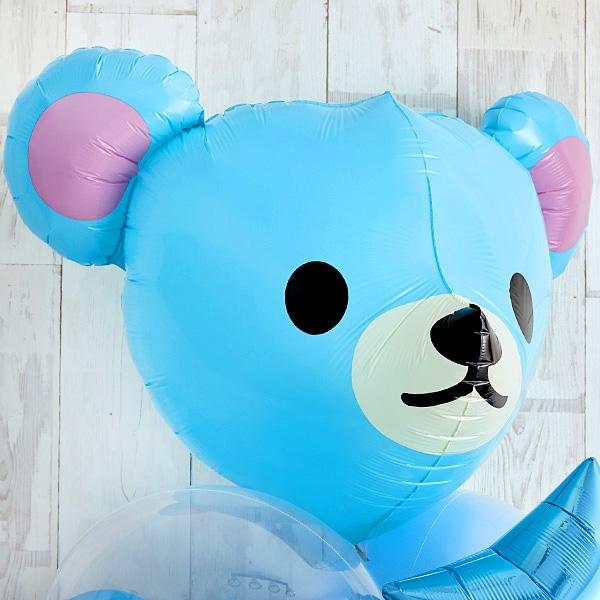 Cutie PinkeyBearでベビーシャワー(ブルー)[4]