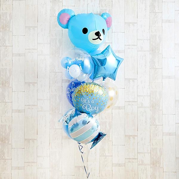 Cutie PinkeyBearでベビーシャワー(ブルー)[10]