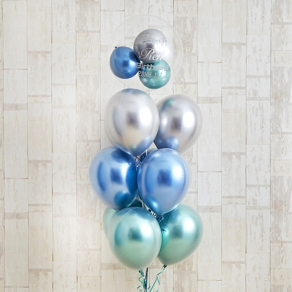 光沢に目を奪われるglossy blue balloon[1]