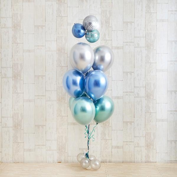 光沢に目を奪われるglossy blue balloon[2]