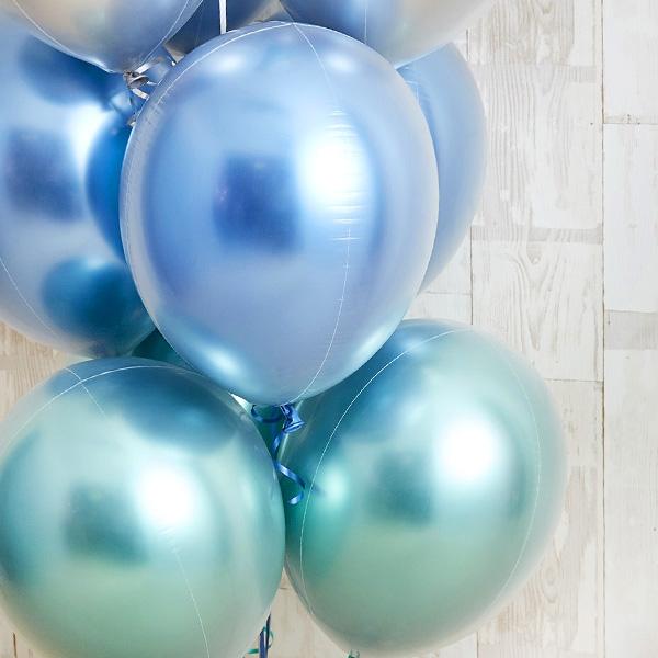 光沢に目を奪われるglossy blue balloon[4]