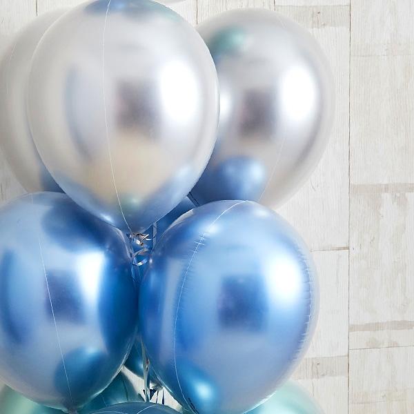光沢に目を奪われるglossy blue balloon[5]