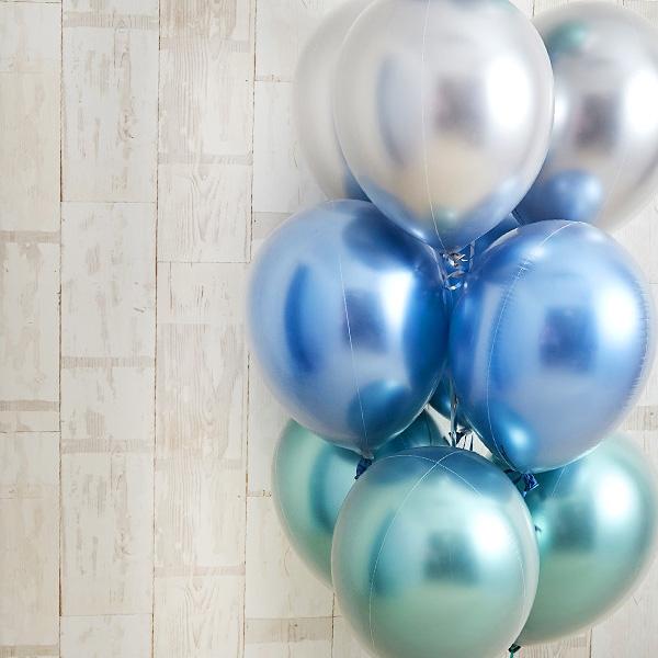 光沢に目を奪われるglossy blue balloon[6]