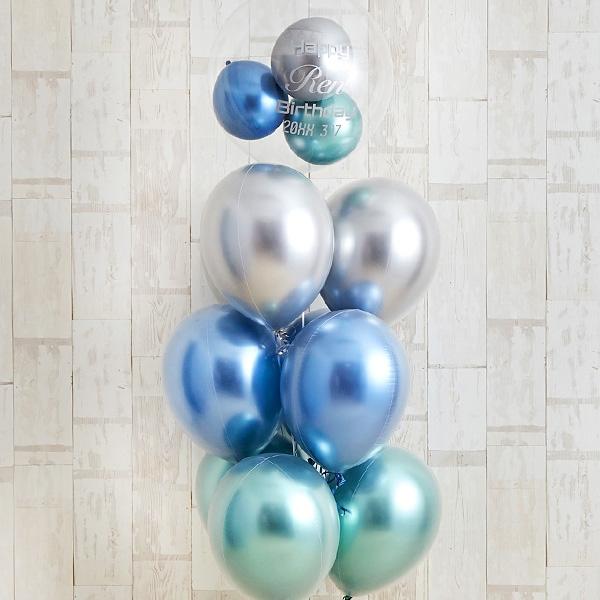 光沢に目を奪われるglossy blue balloon[7]