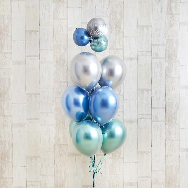 光沢に目を奪われるglossy blue balloon[8]