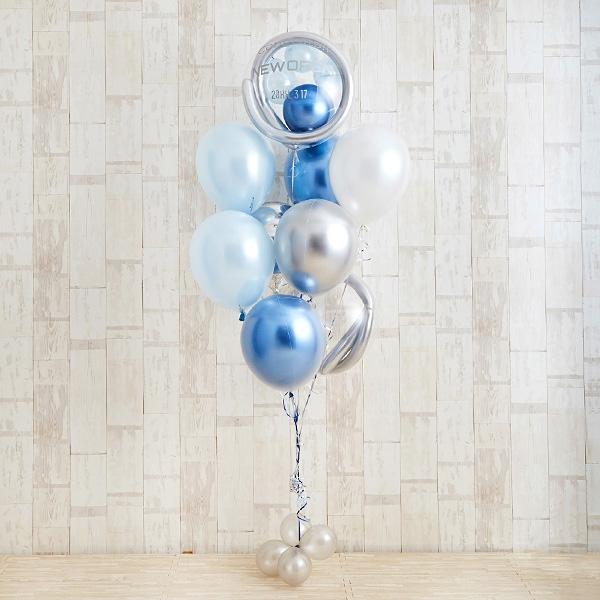 開店・創業のお祝いに! ブルーメタリックバルーン[2]