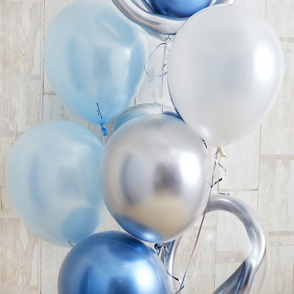 開店・創業のお祝いに! ブルーメタリックバルーン[5]