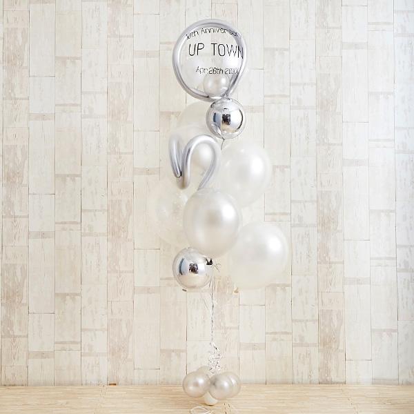 記念日のお祝いに、エレガントな白×銀アレンジ[2]