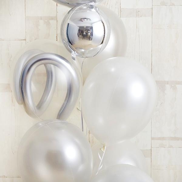 記念日のお祝いに、エレガントな白×銀アレンジ[6]