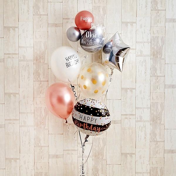 ローズピンク×シルバーの個性派Happy Birthday[8]