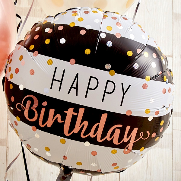 ローズピンク×シルバーの個性派Happy Birthday[4]