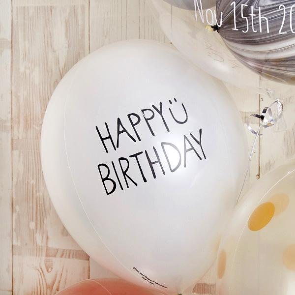 ローズピンク×シルバーの個性派Happy Birthday[5]