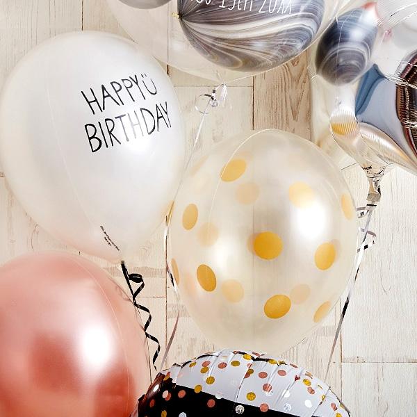 ローズピンク×シルバーの個性派Happy Birthday[7]