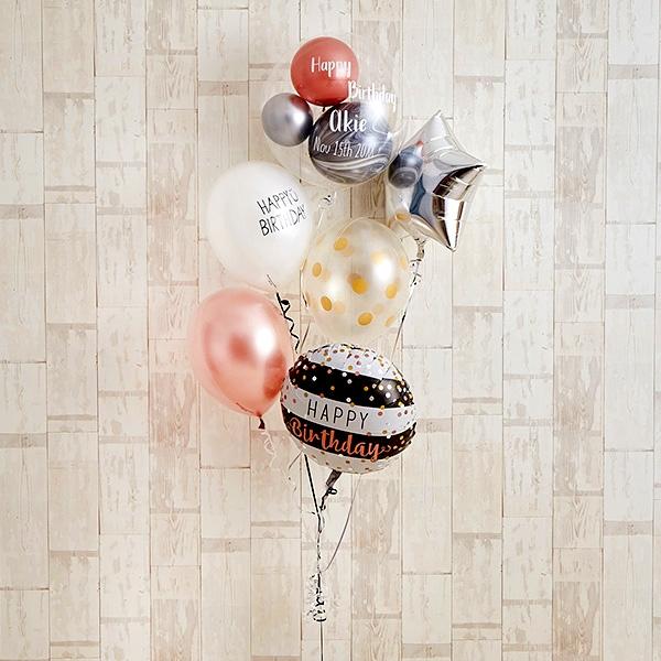 ローズピンク×シルバーの個性派Happy Birthday[9]