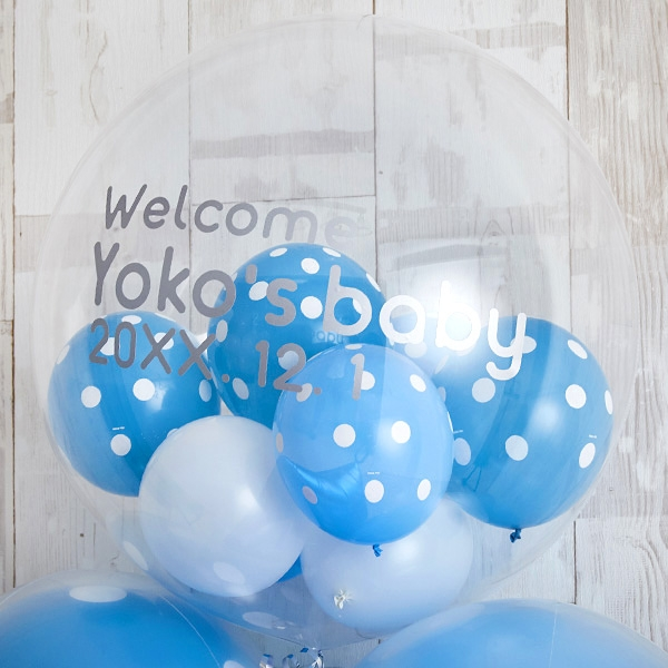 男の子ベビーに!Blue Dot Baby Shower[3]