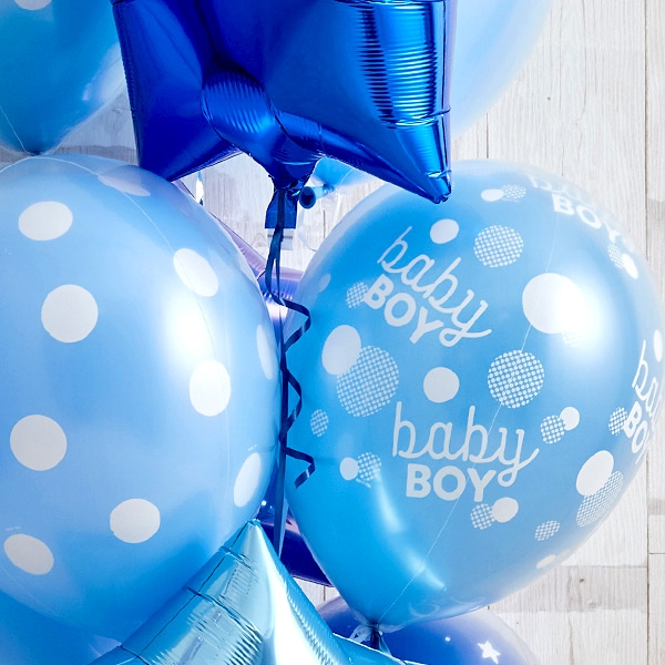 男の子ベビーに!Blue Dot Baby Shower[4]