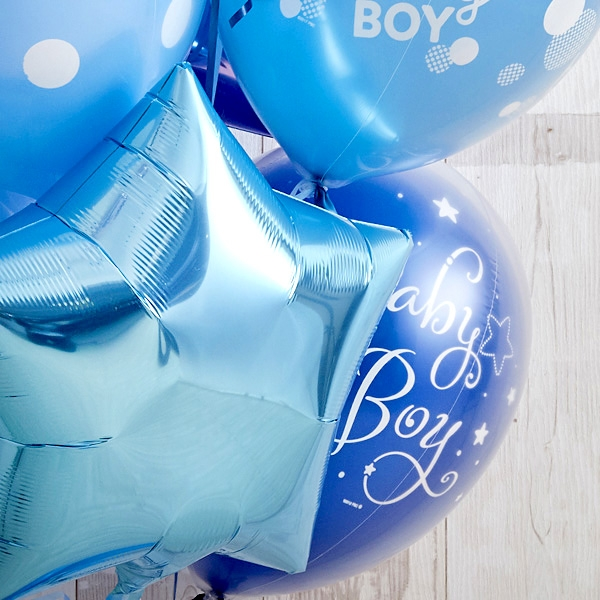 男の子ベビーに!Blue Dot Baby Shower[5]