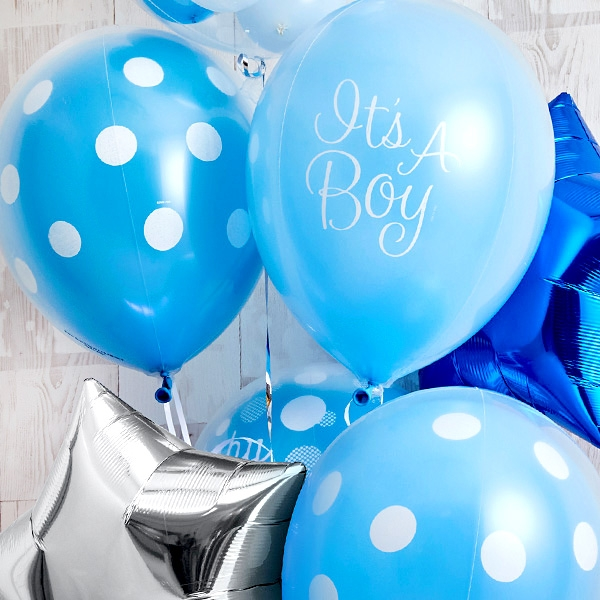 男の子ベビーに!Blue Dot Baby Shower[7]