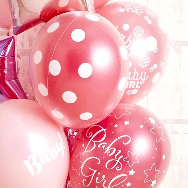 女の子ベビーに!Pink Dot Baby Shower[7]