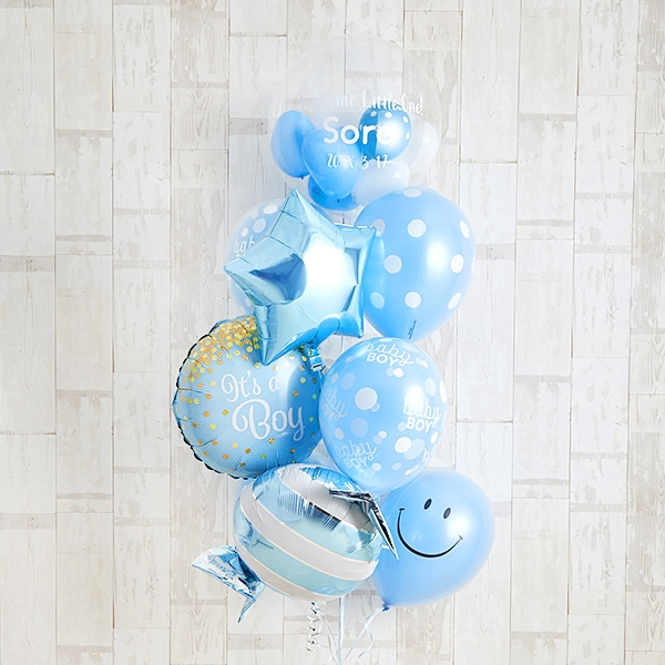 Happy Blue Smile Baby Shower