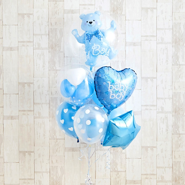 Floting Bear Blue Baby Shower[1]