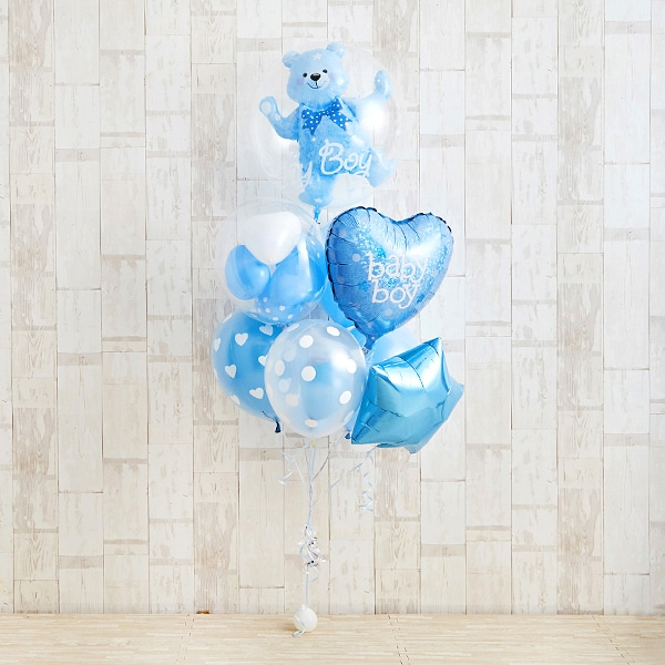 Floting Bear Blue Baby Shower[2]