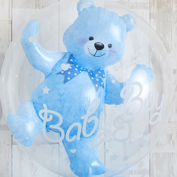 Floting Bear Blue Baby Shower[4]