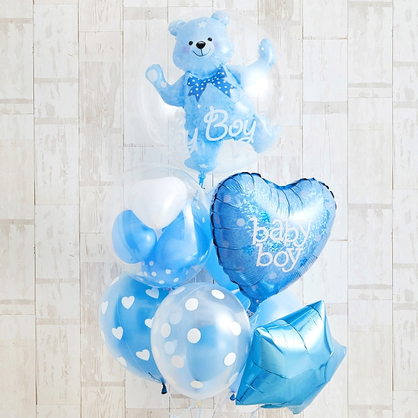 Floting Bear Blue Baby Shower[9]