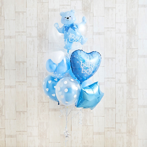 Floting Bear Blue Baby Shower[10]