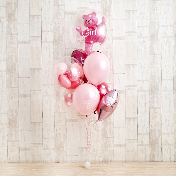 Floting Bear Pink Baby Shower[2]