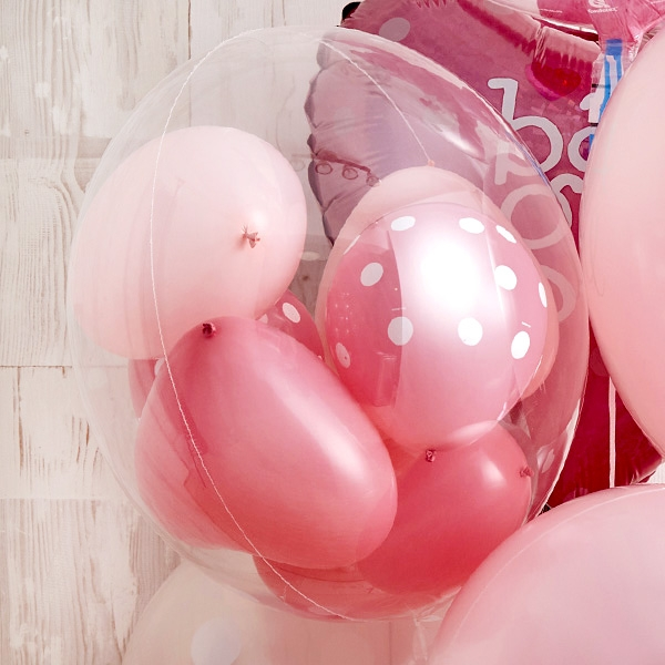 Floting Bear Pink Baby Shower[3]