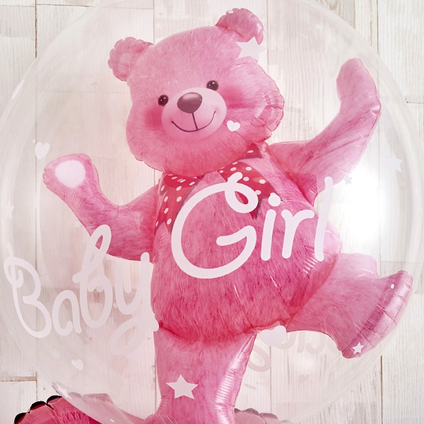 Floting Bear Pink Baby Shower[4]