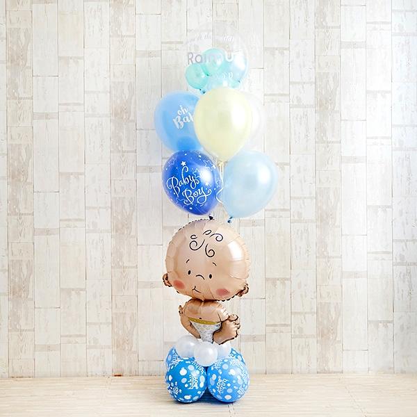 BABYバルーンでお祝いするBlue Baby Shower