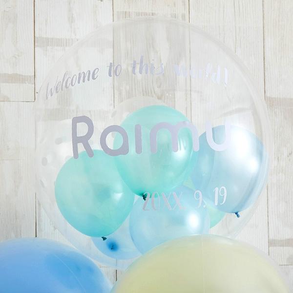 BABYバルーンでお祝いするBlue Baby Shower[2]