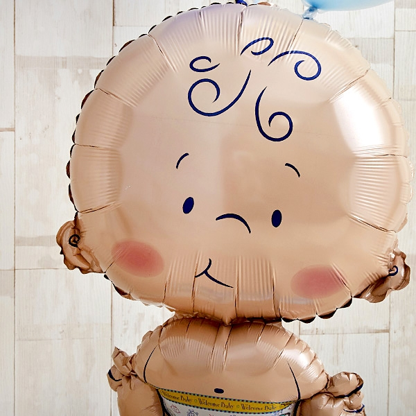 BABYバルーンでお祝いするBlue Baby Shower[3]