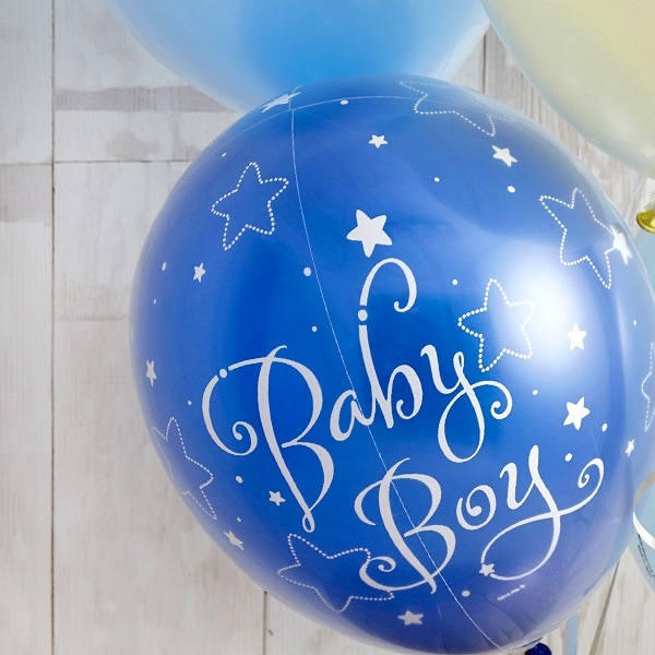 BABYバルーンでお祝いするBlue Baby Shower[4]