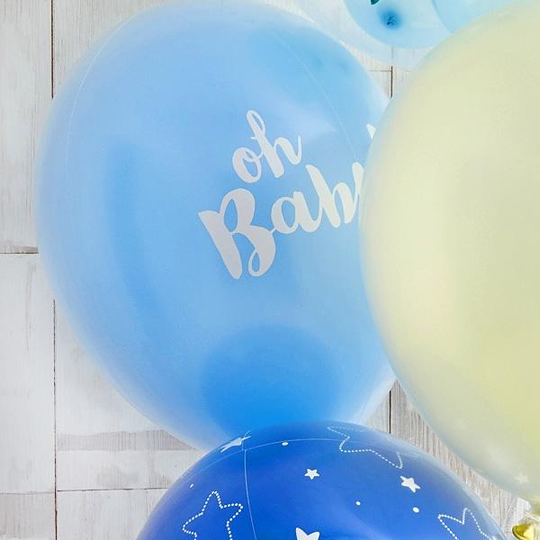 BABYバルーンでお祝いするBlue Baby Shower[5]