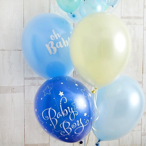 BABYバルーンでお祝いするBlue Baby Shower[6]