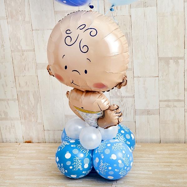 BABYバルーンでお祝いするBlue Baby Shower[7]